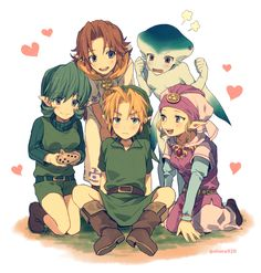 Oh my gerd... I've never noticed that Link had a harem in OoT o.o