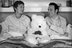 Norman Reedus and Andrew Lincoln in bed