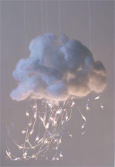 a cloud raining light  ... for the nursery