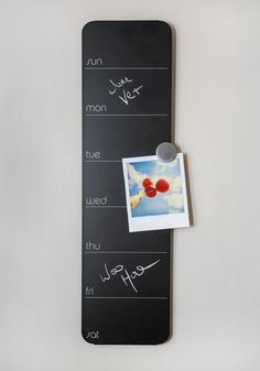 Chalk wall planner - cool idea!