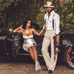 Safaree and Erica Mena wedding offical photos and video released. Check out their lavish wedding in New Jersey at The Legacy Castle. Love and Hip Hop stars Couple Pregnancy Photoshoot, Maternity Dresses For Photoshoot, Maternity Pictures, Maternity Fashion, Maternity Shoots, Erica Mena, Pregnant Celebrities, Pregnant Couple, Photo Couple