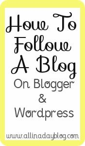 How to follow a blog