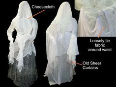cool DIY grave ghosts from chicken wire http://www.diynetwork.com/how-to/halloween-decoration-how-to-make-human-size-ghosts/page-3.html