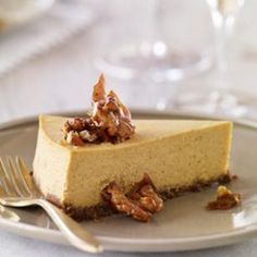 We pulled out a few of our favorite EatingWell tricks to achieve plenty of creaminess in our pumpkin cheesecake without all the saturated fat of a typical recipe: nutrient-packed canned pumpkin and pureed nonfat cottage cheese replace some of the cream cheese.