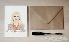 Leslie Knope greeting card Valentine's Galentine's by ohgoshCindy, £2.50