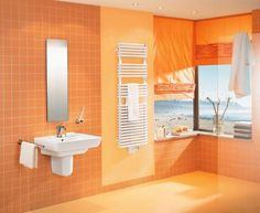 Orange bathroom design