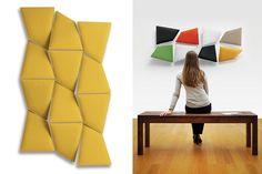 Panel con absorción acústica Alberto y Francesco Meda. Flap Caimi Brevetti. Premios DesignEurope