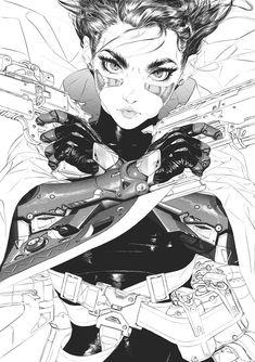 gunnm (wip), Landy R. Andrianary , gunnm (wip), Landy R. Character Concept, Character Art, Concept Art, Anime Kunst, Anime Art, Boichi Manga, Manga Drawing, Cyberpunk Kunst, Battle Angel Alita