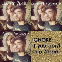 I love Zerrie <3 so proud of how far they've both come. Blows my mind to think they're engaged now, though.