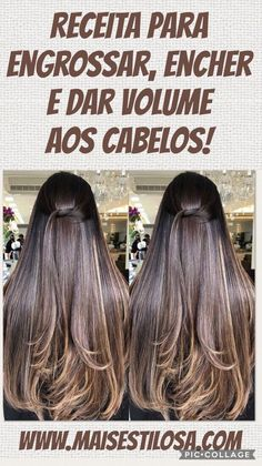 Clique aqui e saiba mais Clique aqui e saiba mais Ombre Hair, Balayage Hair, Haircolor, Beauty Skin, Hair Beauty, Vitamins For Skin, Brown Blonde Hair, Healthy Skin Care, Homemade Skin Care