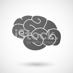 brain  icon on white background royalty-free stock vector art