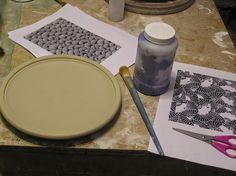 Fine Mess Pottery: Tutorial: technique to print a slip or underglaze design from a laser print