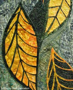 detail, September Song by Jane M. Rua.  Photo by Quilt Inspiration: Celebrating Autumn Quilts
