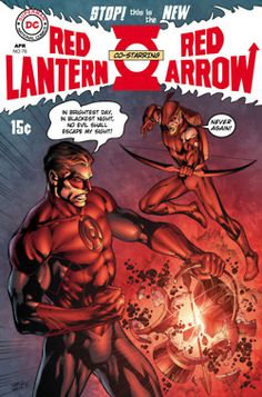 "From ""Fringe"", the alternate universe cover of DC Comics' Red Lantern 76 by Ivan…"