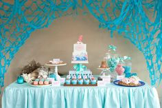Magical Mermaid Guest Dessert Feature | Amy Atlas Events
