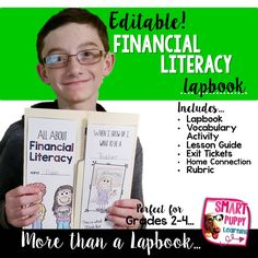 A complete financial literacy unit all wrapped up into one great lapbook! AND it can be edited to meet your student's needs! Great for grades 2-4.