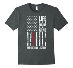 40th Birthday Shirt Born in July 1977 Life Begins At 40 Gift