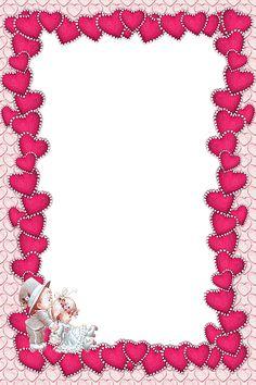 Valentines Transparent Pink Frame.