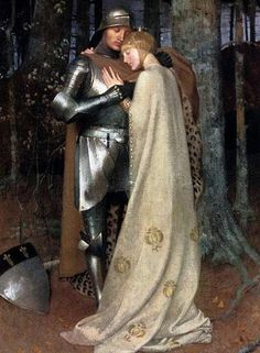 Aucassin and Nicolete, 19th century oil-on-canvas by Marianne Stokes