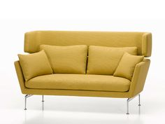 Wat: Suita sofa Ontwerper/fabrikant: Antonio Citterio, Vitra Herkomst: Zwitserland Materiaal: Metaal, PU (kunststof), PU-schuim (kunststof), Veren  Prijs: € 3.201,-