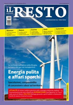 La copertina del n. 13 del settimanale iL Resto - è possibile scaricare la copia in formato elettronico all'indirizzo www.ilresto.tv/archivio