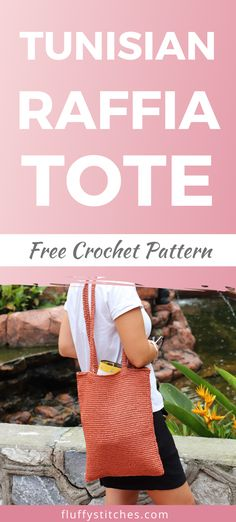 The Tunisian Raffia Tote is the accessory you were missing this summer! Dive into Tunisian crochet with this easy breezy free pattern! Crochet Market Bag, Crochet Tote, Crochet Handbags, Summer Patterns, Lace Patterns, Purse Patterns, Sewing Patterns, Beginner Crochet Projects, Crochet Patterns For Beginners