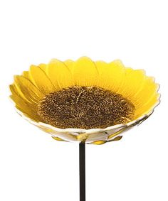 Ceramic Sunflower Garden Stake