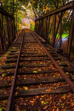 Railroad Trestle, York, Pennsylvania  photo via illuminate-Wouldn't you love to walk down this railroad track? I would.