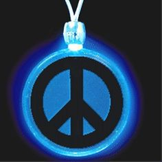 Private Island Party  - Light Up Peace Sign Necklace 6554, $4.99 Perfect accesory to create a groovy atmosphere at your 60's or 70's party. This peace sign will brighten every costume. LED Peace Sign Necklace is perfect as party favor.