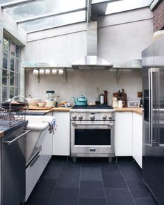 skylight / glass ceiling in the kitchen