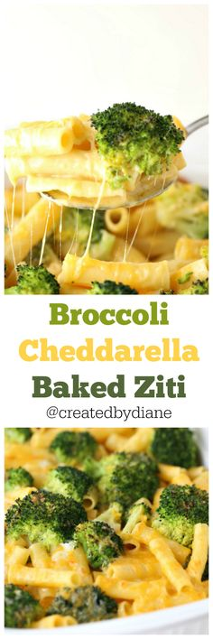 Broccoli Cheddarella Baked Ziti -- this would also be good with some chicken added in! Vegetarian Recipes, Cooking Recipes, Healthy Recipes, Yummy Recipes, Baked Ziti Recipes, Pasta Bake Recipes, Recipies, Tortellini Recipes, Top Recipes