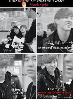Hahaha! And this is why Mark is my ultimate bias (and because he's- well, Mark tuan:D one of a kind)