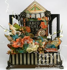 Artisan Style Assemblage with Graphic 45 by Polly's Paper Studio