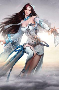 花瓣 Fantasy Art Women, Dark Fantasy Art, Wolf, Fantastic Art, Female Art, Art Drawings, Sci Fi, Wonder Woman, Cosplay