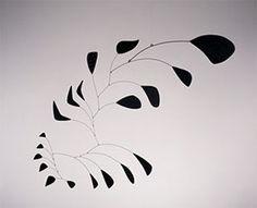 "Vertical Foliage, 1941  Alexander Calder Sheet metal, wire, and paint 53 1/2"" x 66"" Calder Foundation, New York A15493."