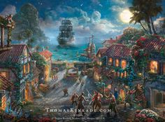 "Pirates of the Caribbean, The Curse of the Black Pearl"" - Thomas Kinkade Studios www.winwithmtee.com"