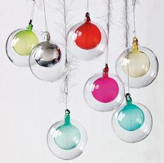Mad for Mid-Century: Modern Glass Ball Ornaments at mid century modern christmas decorations - Modern Decoration Retro Christmas Decorations, Modern Christmas Decor, Holiday Ornaments, Glass Ornaments, Tree Decorations, Globe Ornament, Ornaments Ideas, Holiday Tree, Holiday Crafts