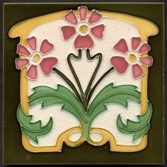 ❤ - Art Nouveau Tube Line Tile--this one looks good with your clock