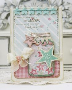 from lilybeanpaperie... LOVE this! also check out the JAR to match this on upcycling jars!