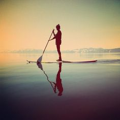 paddle board on a lake...half fun (knowing that you might fall in), half fear (knowing that you might fall in). DO IT ANYWAY. #evoxSummer