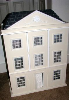 RARE RETIRED POTTERY BARN DOLLHOUSE WITH POTTERY BARN FURNISHINGS PERFECT CONDIT