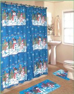 amazoncom snowman 15 piece bath set - Christmas Bathroom Sets