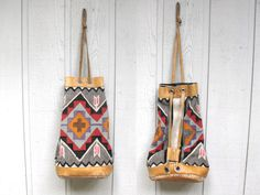 Vintage  70s  Kilim  Boho  Backpack  Bucket Bag  by WolfClothing