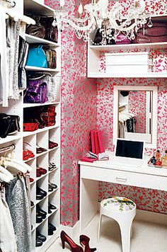 I want to put a vanity in my closet