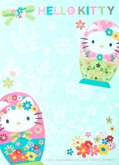 Hello Kitty Russian dolls.