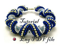 TUTORIAL: Cellini spiral bracelet,tutorial beading, tubular peyote,pattern bracelet
