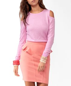 Studded Cutout Sweater Tunic #eyecandy #f21exclusivecollection - love love love the color combo!