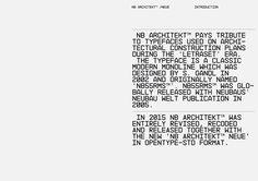 NB Architekt™ & Neue (2002/2015) on Behance