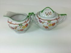 Vintage Sugar and Creamer Made in Japan by FindingYesterday
