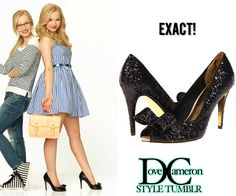 Dove (as Liv) wore these glitter heels for season 1 Liv & Maddie promotional pictures. Thank you to the anon for the match! Ted Baker Morni Glitter Bow Pumps in Black Price: $75.99 - $99.99